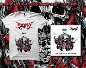 Biopsy (India) - 'Fractals of Derangement' CD + T-shirt COMBO