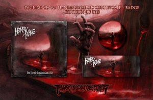 Henry Kane (Sweden) - Den Förstörda Människans Rike Digipak CD with handnumbered certificate + Badge