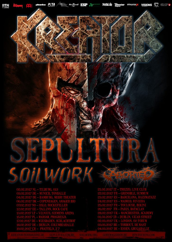 Kreator Tour Poster 2017