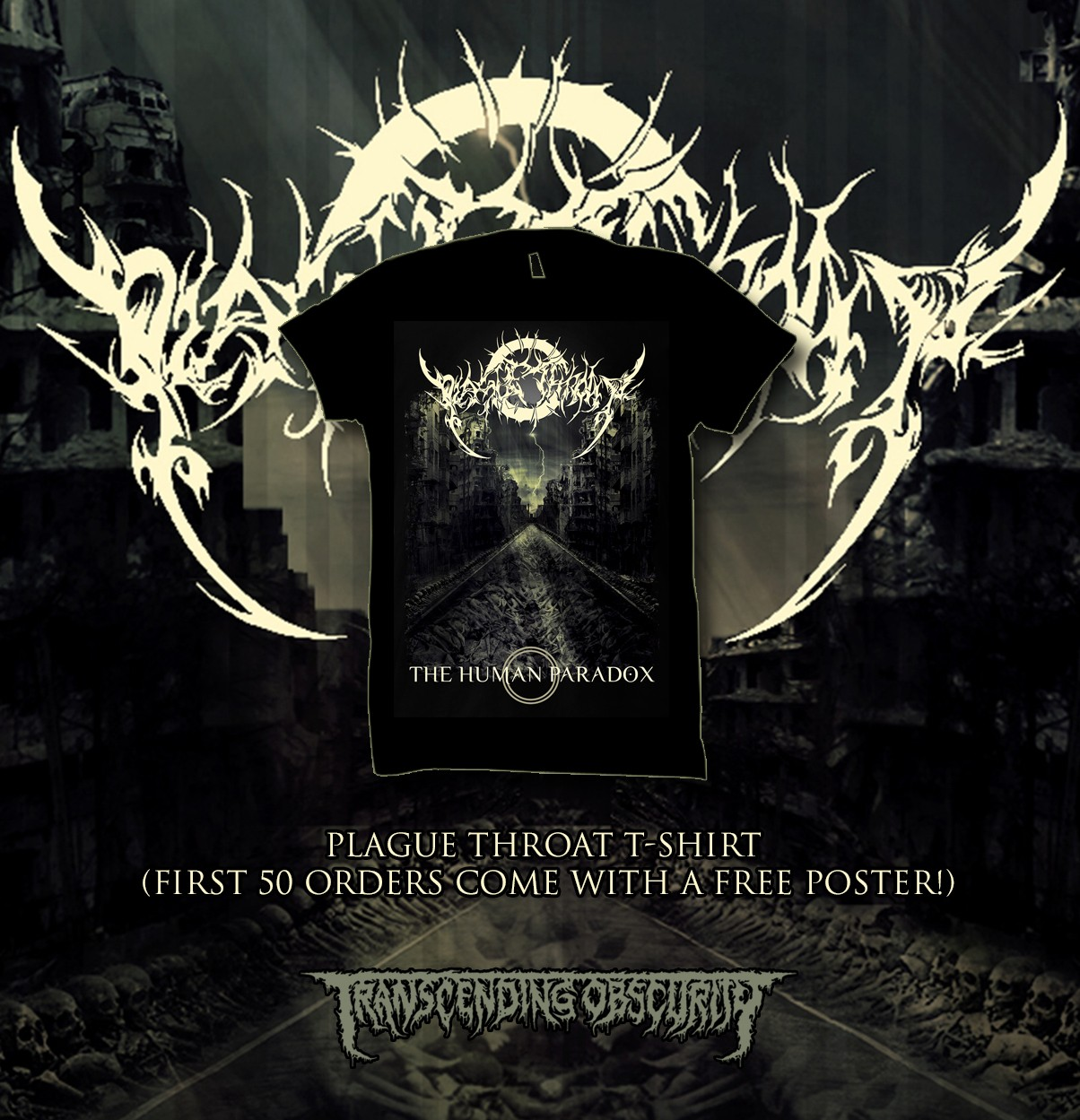 PLAGUE THROAT T-shirt (Last copies!)