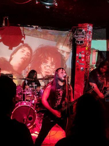 Infernal Conjuration (Tijuana, MX) performing at San Diego's Tower Bar.