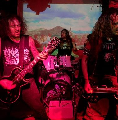 Necrot (Oakland, CA) performing at the Tower Bar in San Diego.