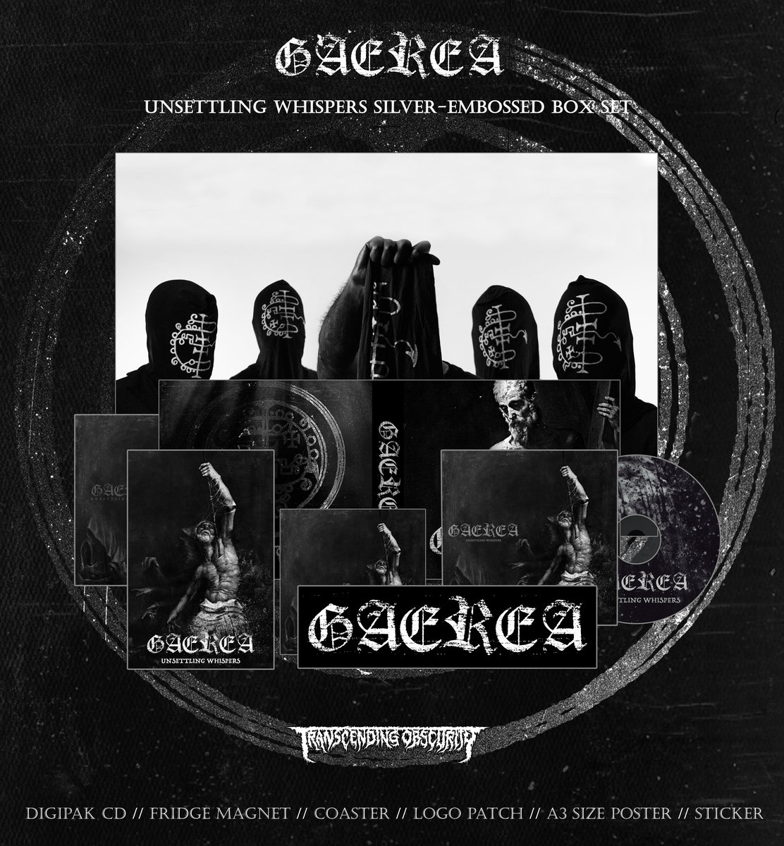 Gaerea Silver-embossed Black Box Set with Alternate Artwork