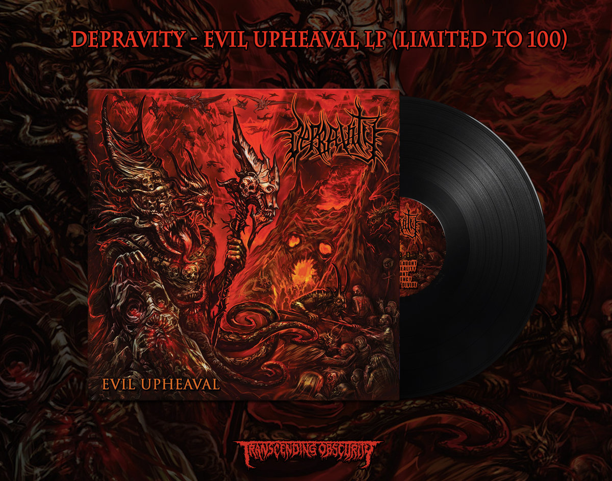 Depravity - Evil Upheaval LP (Limited to 100)