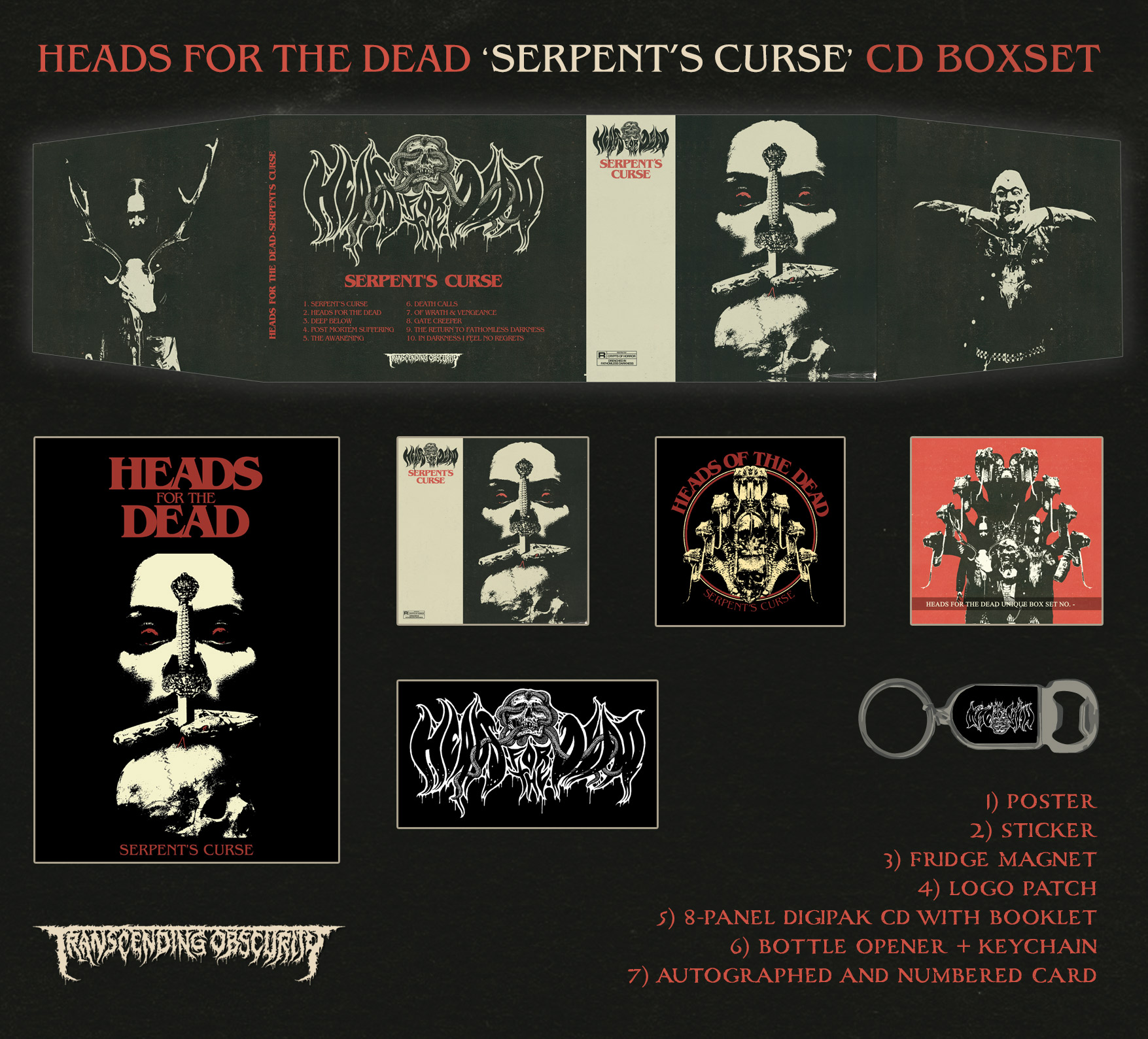 HEAD FOR THE DEAD - Serpent's Curse CD Box Set (Autographed and Numbered)