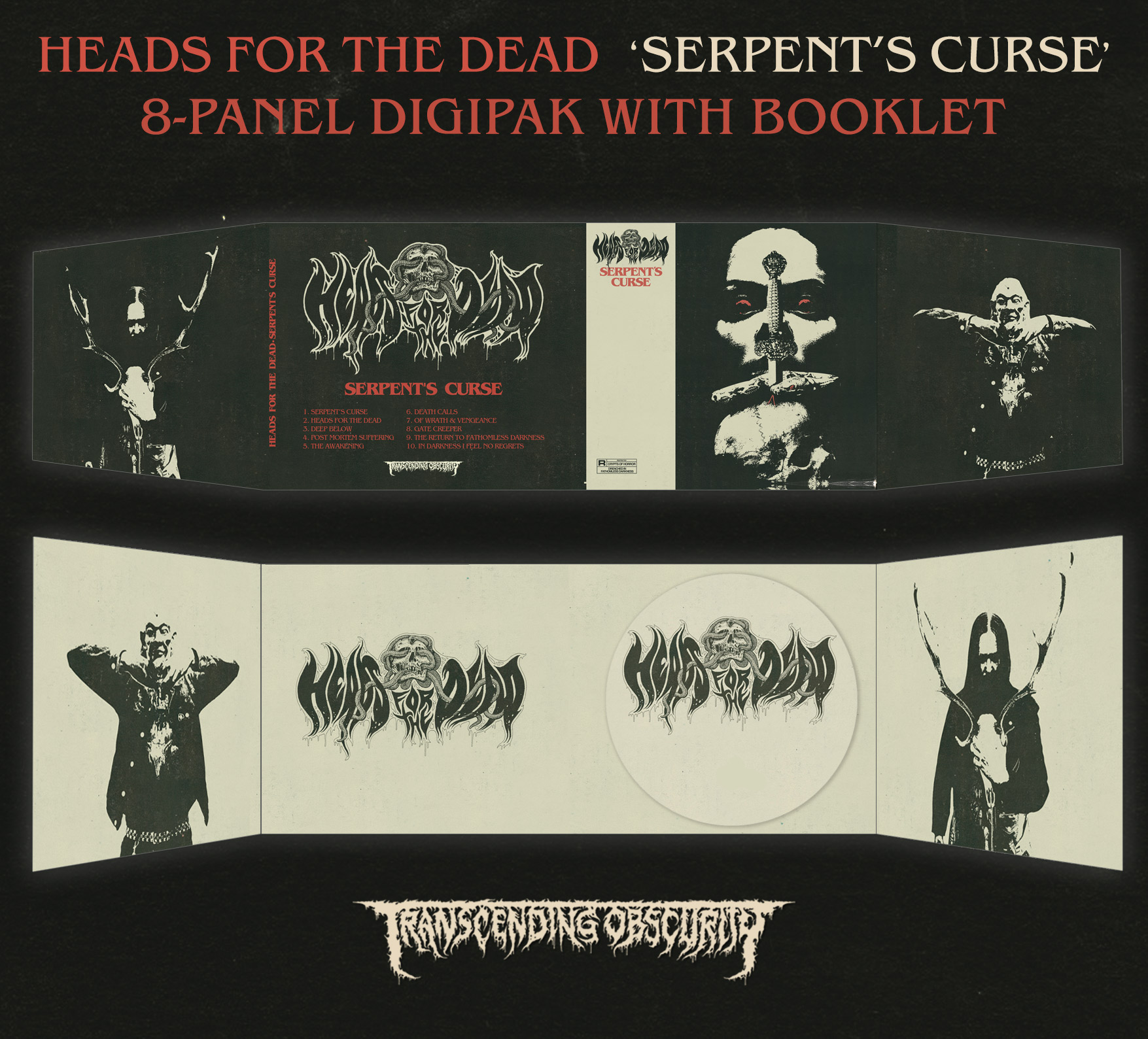 HEADS FOR THE DEAD (International) - Serpent's Curse 8-Panel Digipak CD with Booklet
