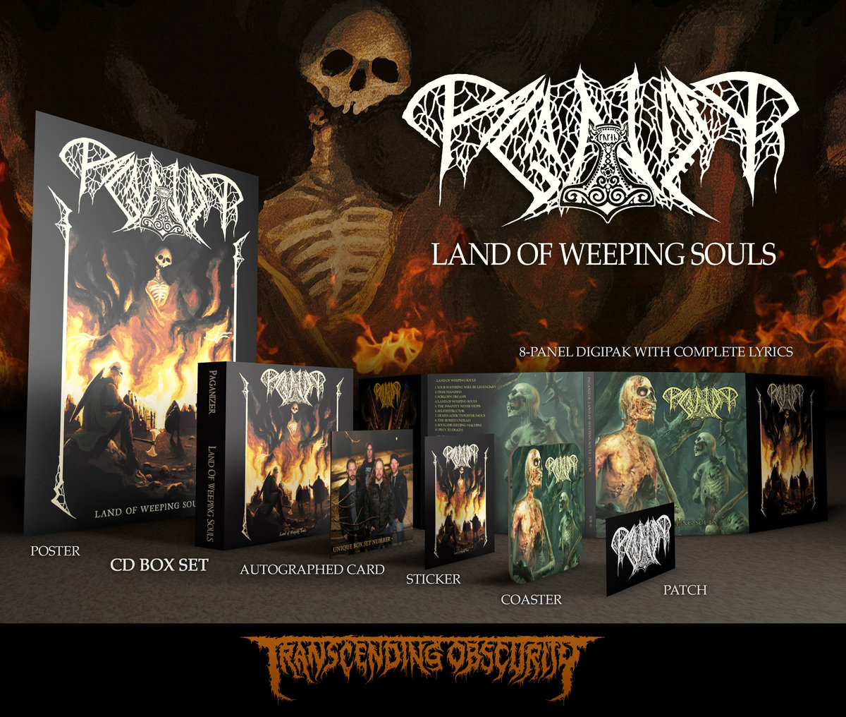 PAGANIZER (Sweden) - Land of Weeping Souls Deluxe CD Box Set (Autographed and Numbered)