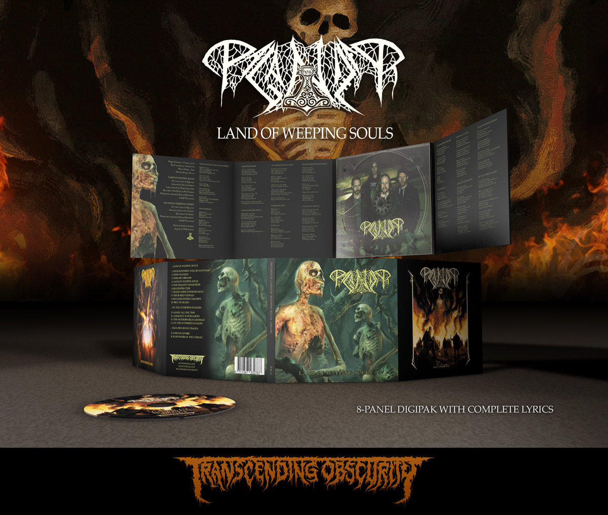 PAGANIZER (Sweden) - Land of Weeping Souls 8-Panel Digipak CD with Bonus EP + Exclusive Songs