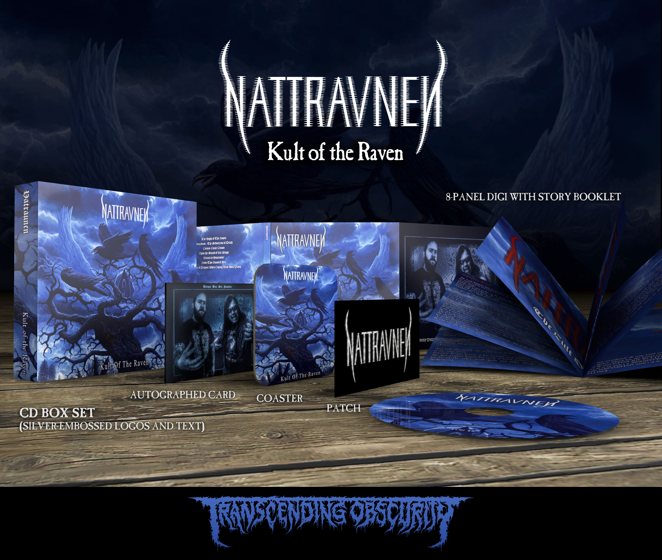NATTRAVNEN (US/UK) - 'Kult of the Raven' Autographed CD Box Set (Limited to 150)