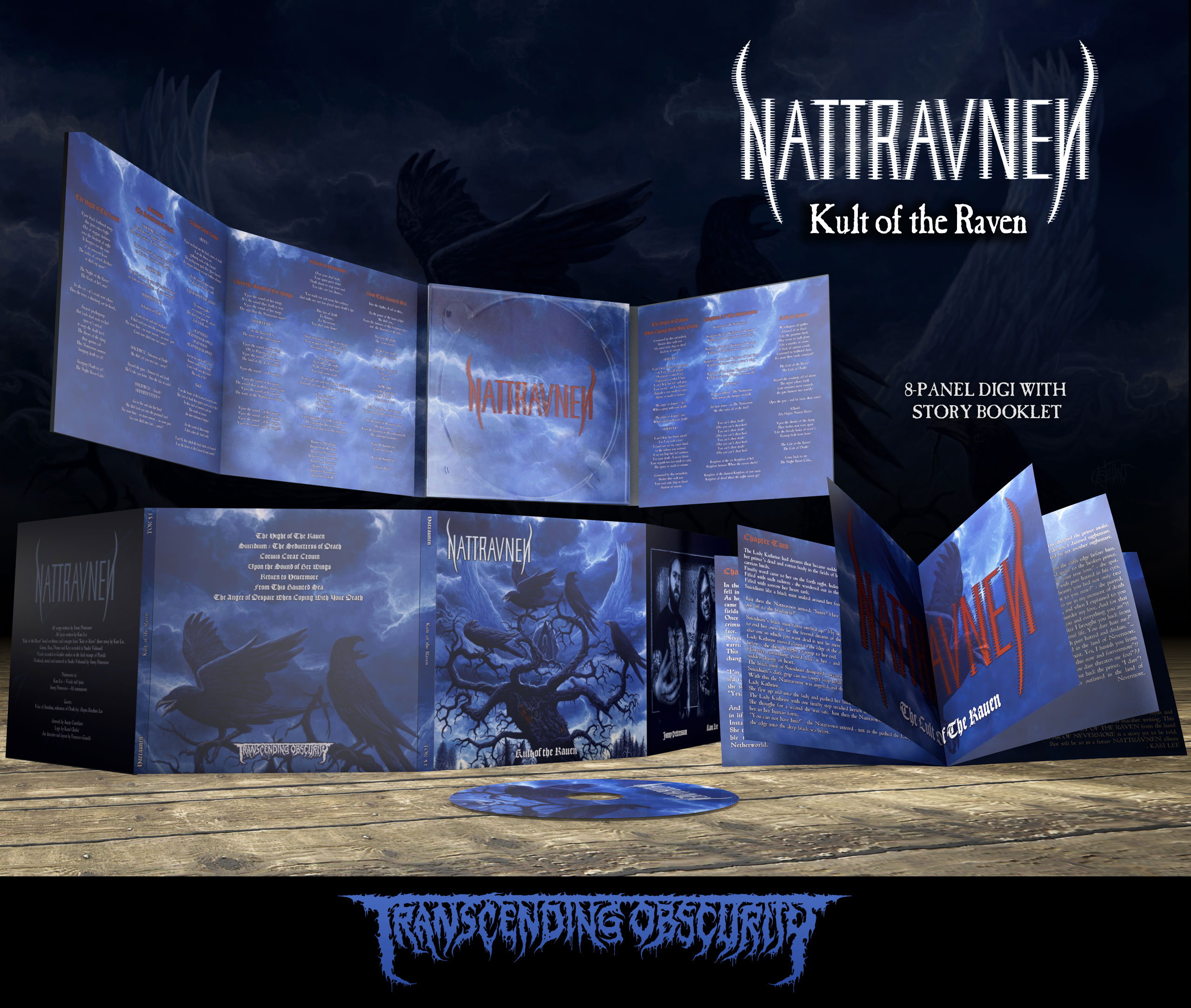 NATTRAVNEN (US/UK) - 'Kult of the Raven' 8-Panel Digipak CD with 12-page booklet