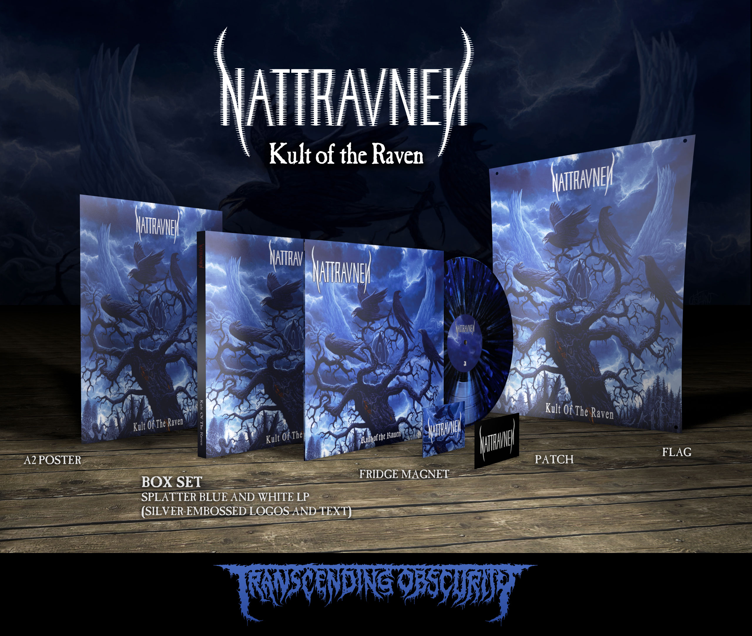 NATTRAVNEN (US/UK) - 'Kult of the Raven' LP Box Set (Limited to 35)