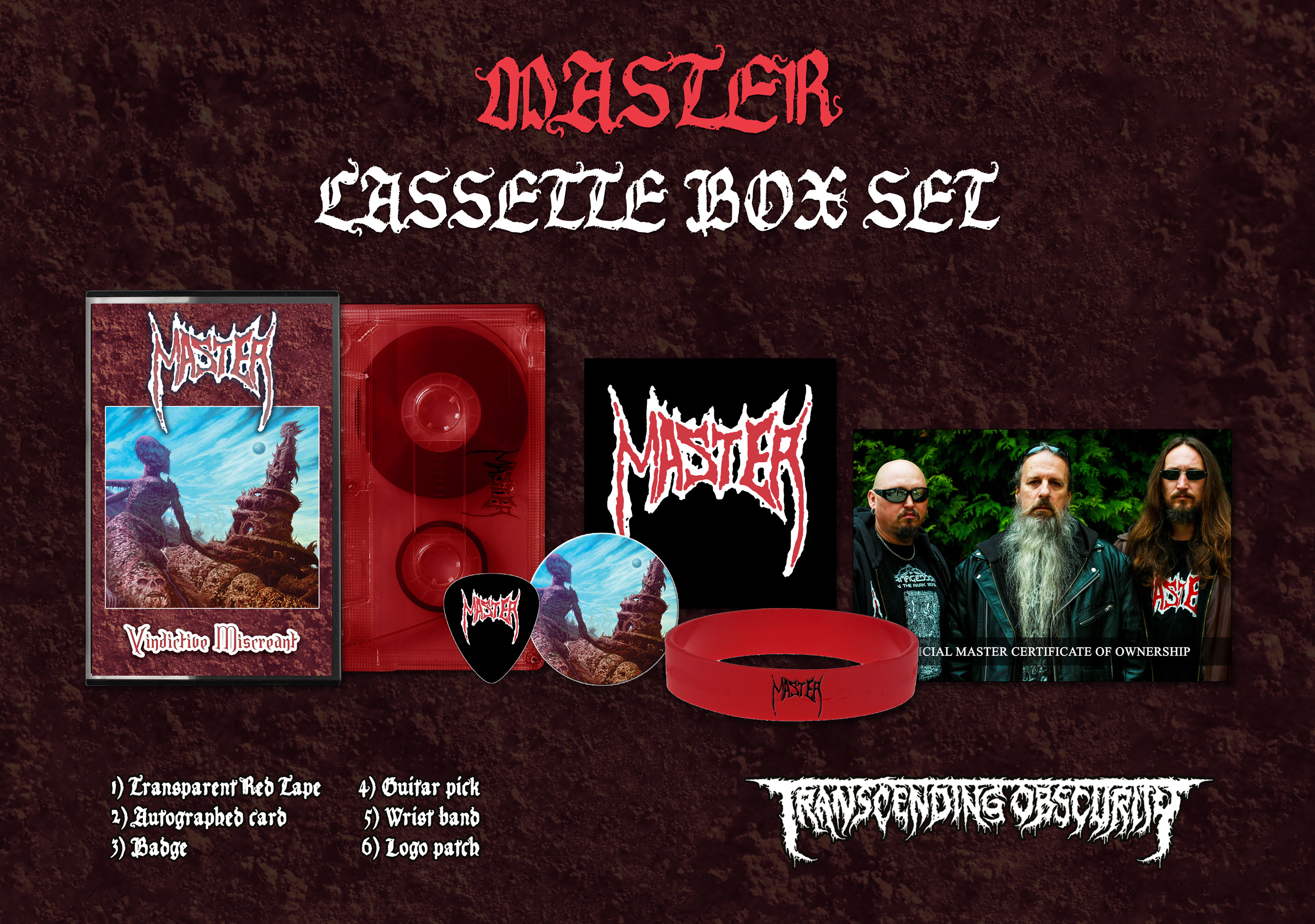 MASTER (Czech Republic) - Vindictive Miscreant Cassette Box Set (Limited to 50)