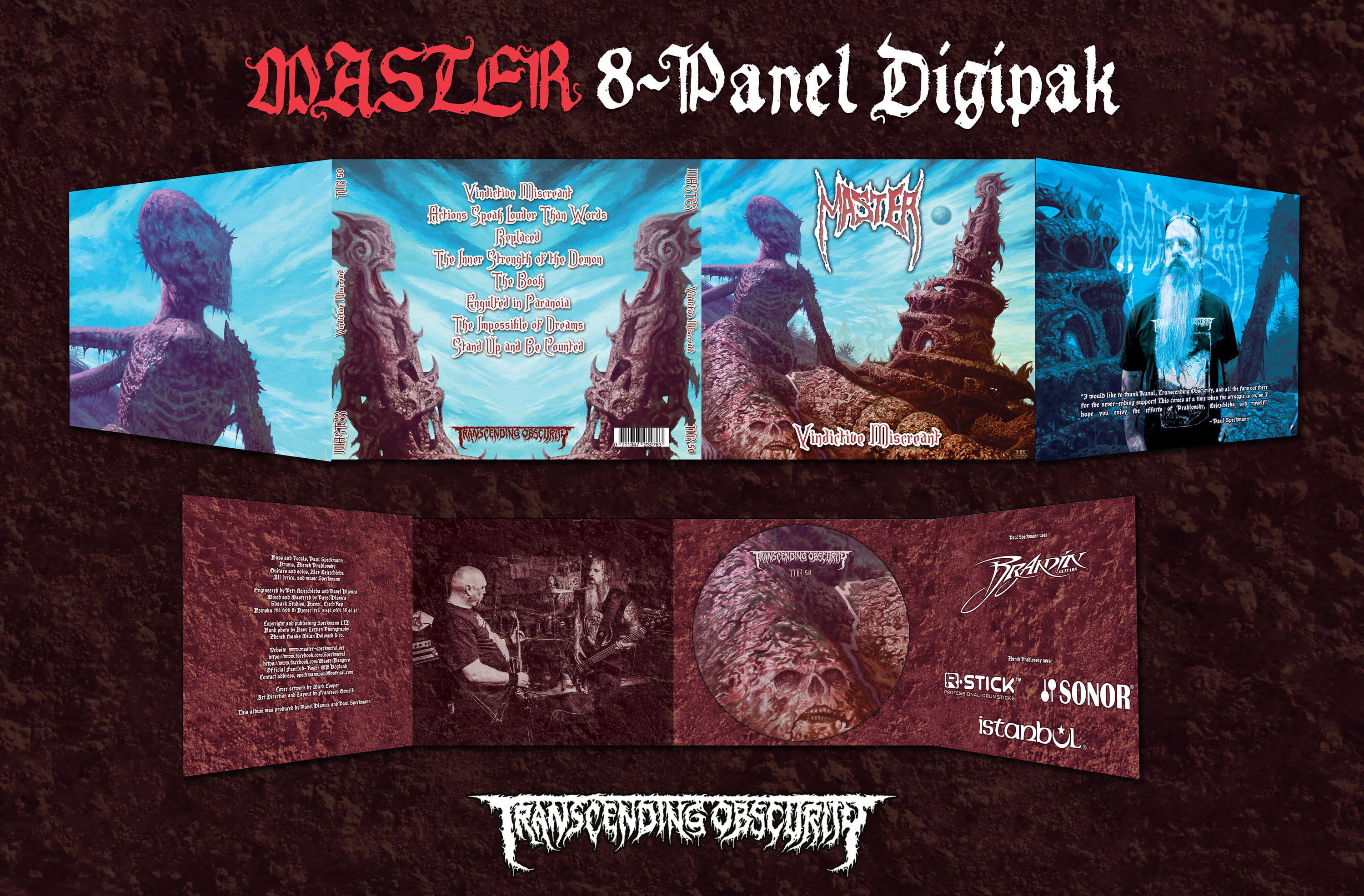 MASTER (Czech Republic) - Vindictive Miscreant 8-panel digipak CD with 12-page booklet