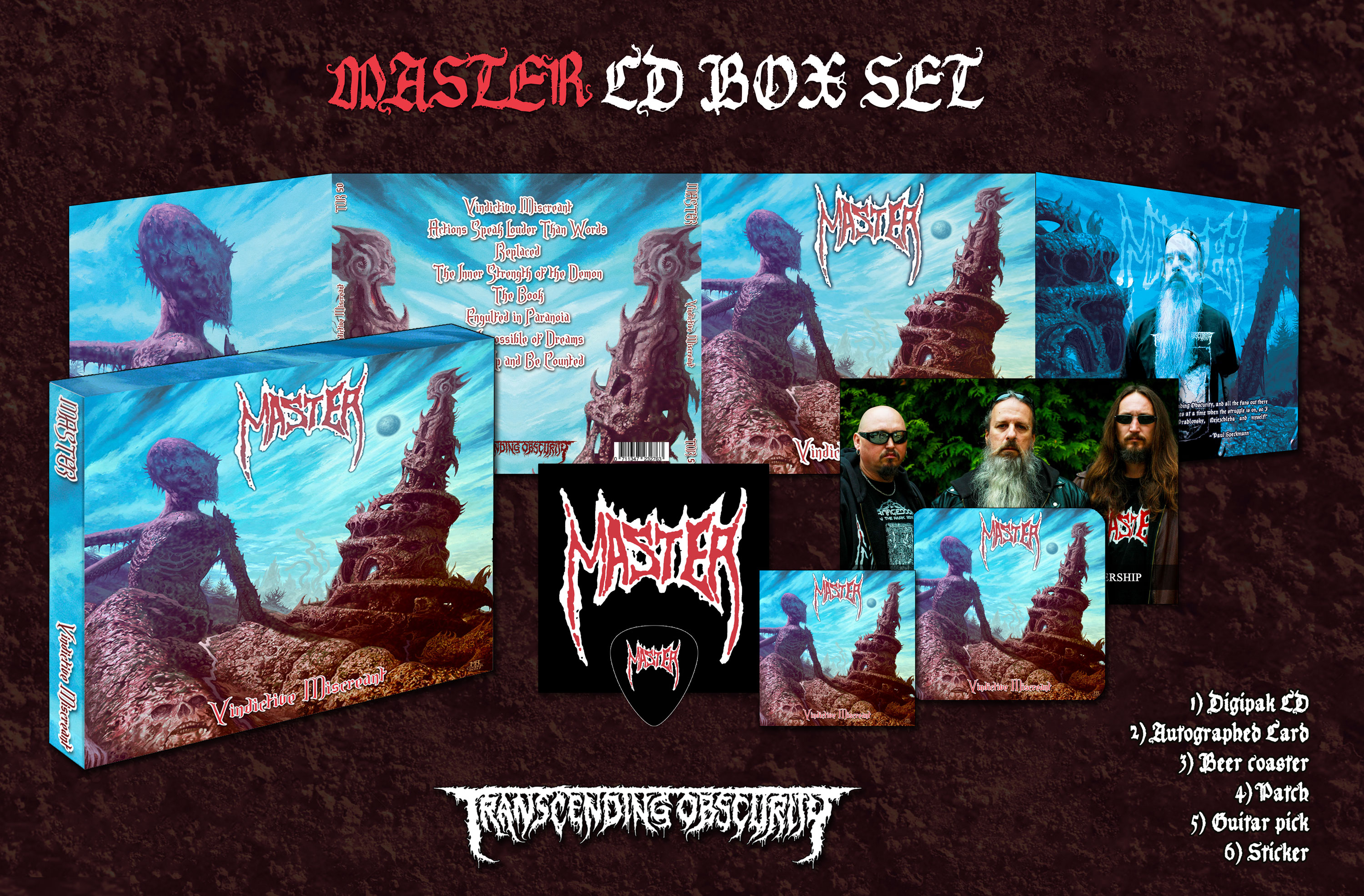 MASTER (Czech Republic) - Vindictive Miscreant CD Box Set (Limited to 200)