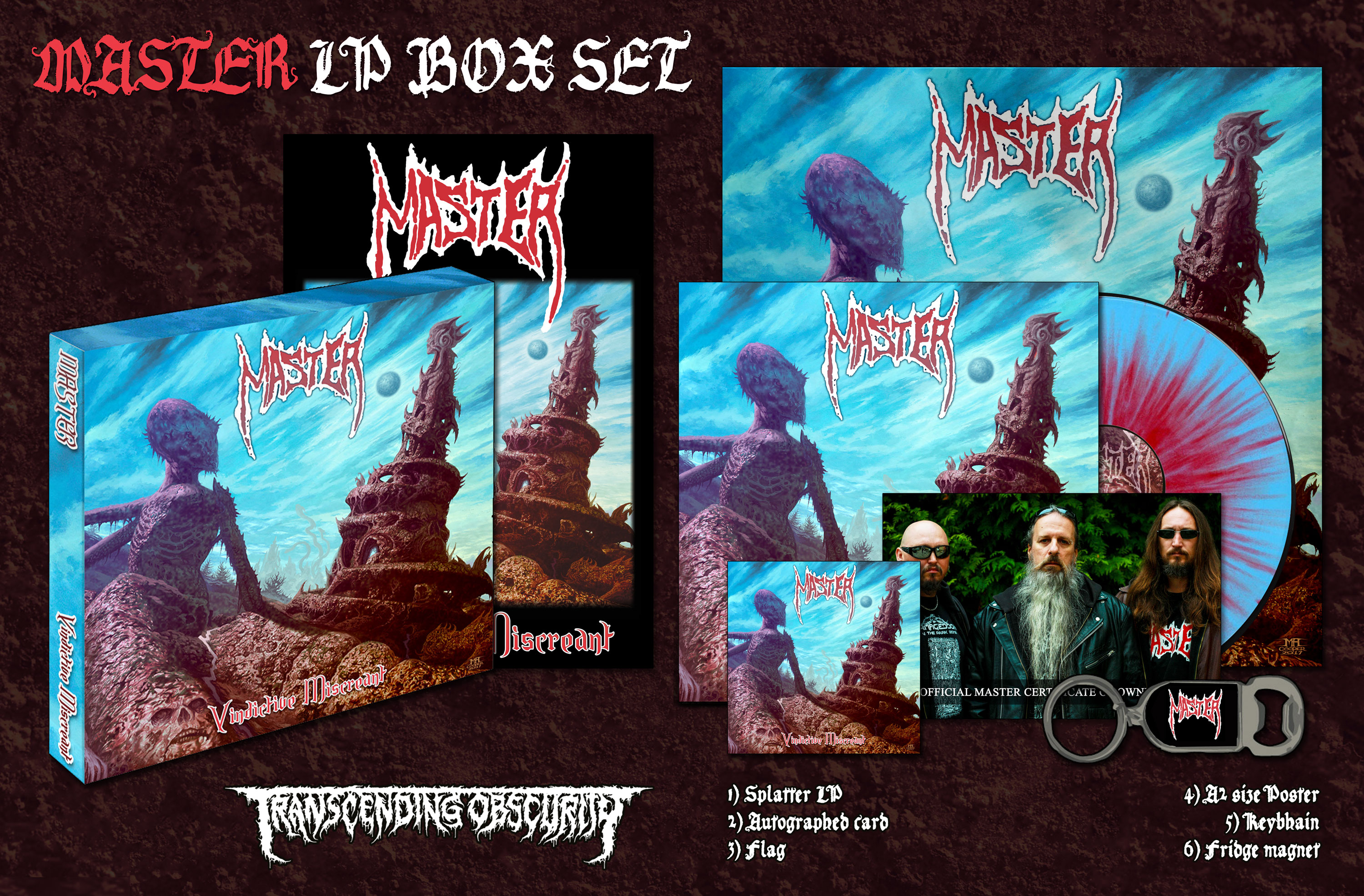MASTER (Czech Republic) - Vindictive Miscreant LP Box Set (Limited to 100)