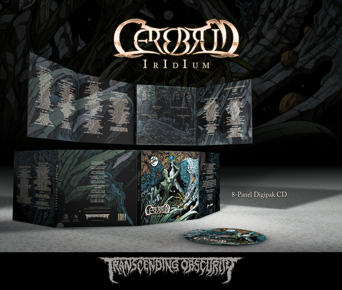 CEREBRUM (Greece) - 'Iridium' 8-Panel Digipak CD in Matt Varnish