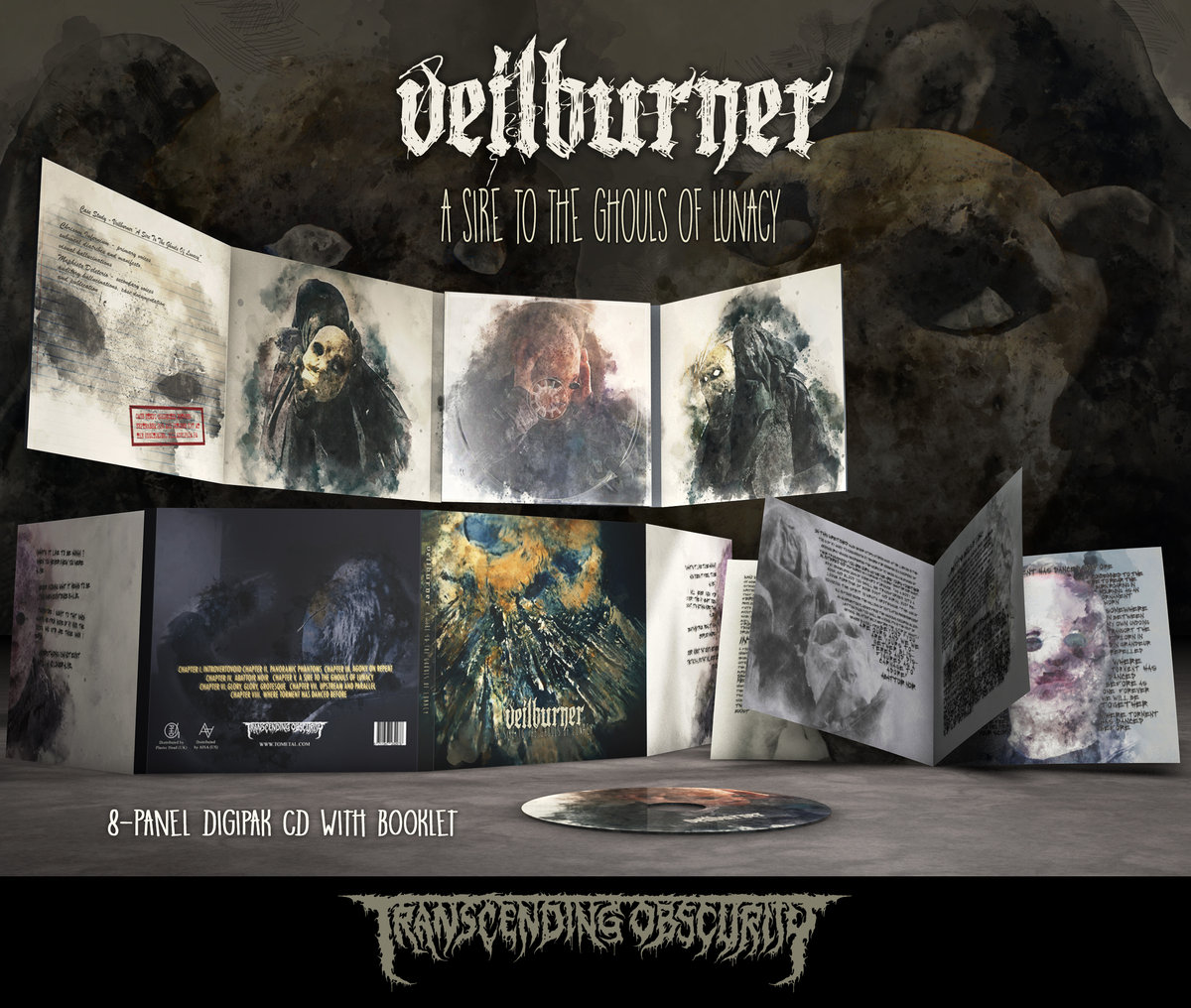 VEILBURNER (US) - 'A Sire To The Ghouls Of Lunacy' 8-Panel Digipak CD with 8-Page Booklet