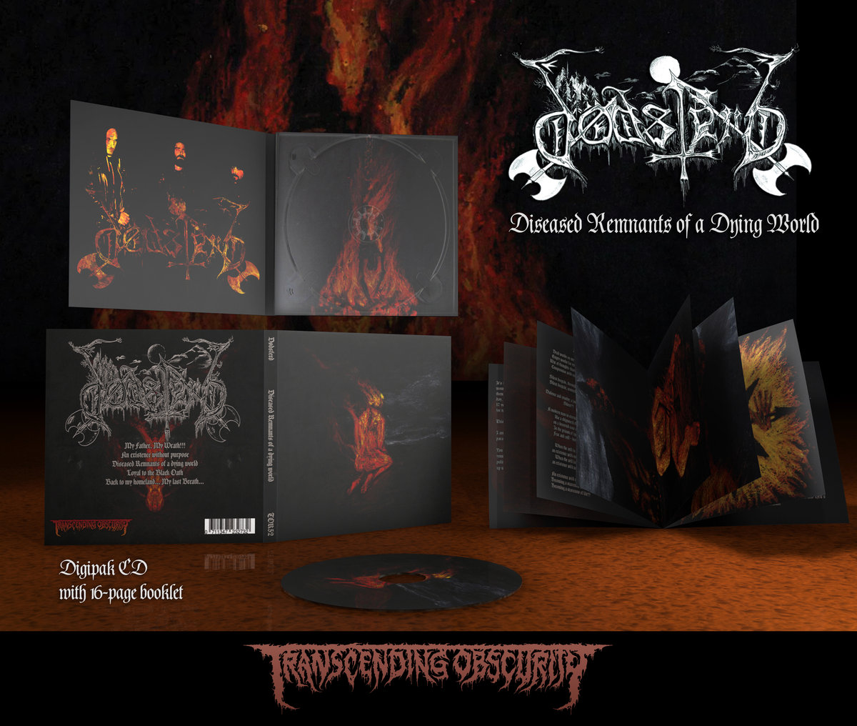 DØDSFERD (Greece) - 'Diseased Remnants Of A Dying World' Matt Varnish Digipak with 12-Page Booklet