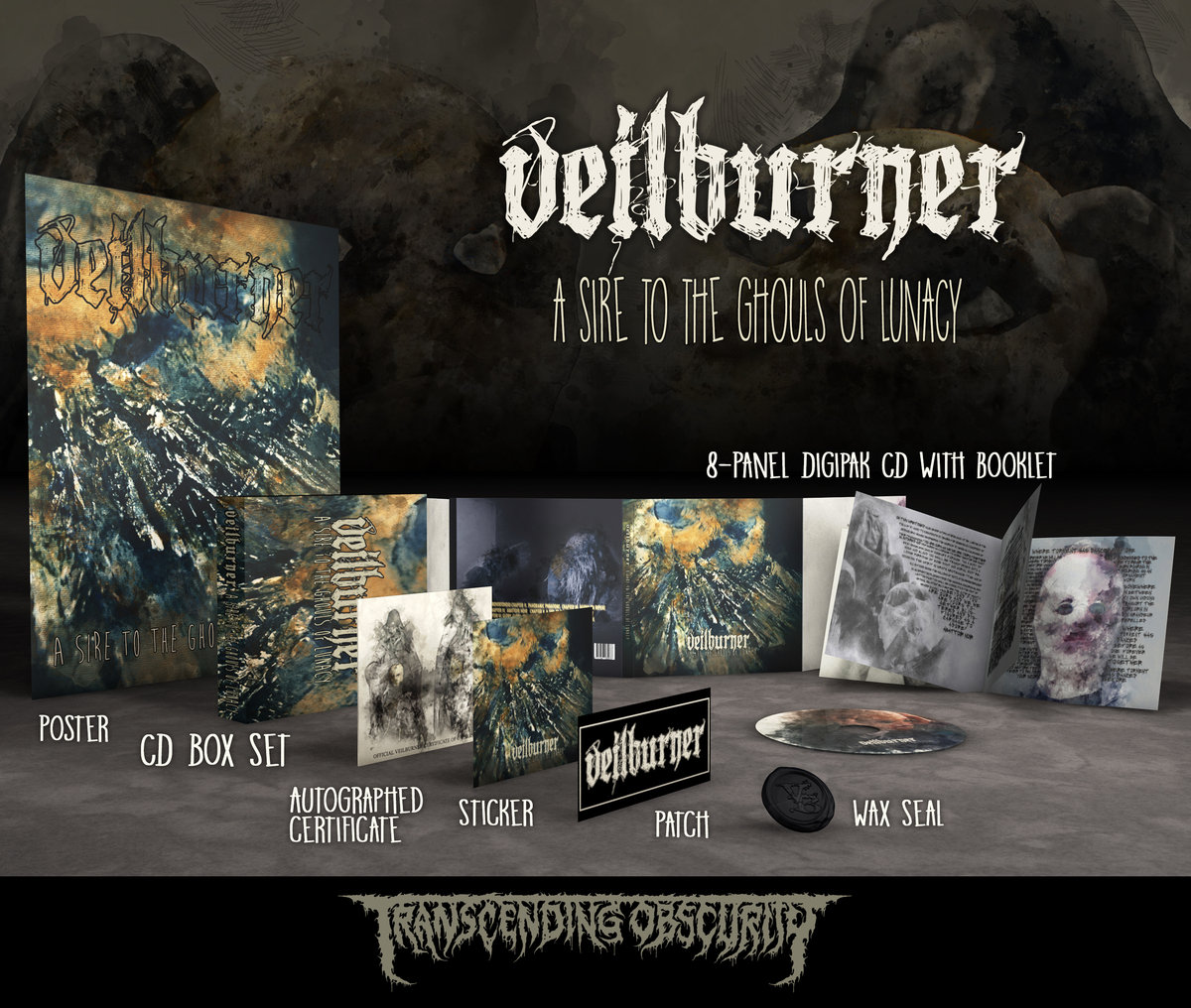 VEILBURNER (US) - 'A Sire To The Ghouls Of Lunacy' CD Box Set (Limited to 100)