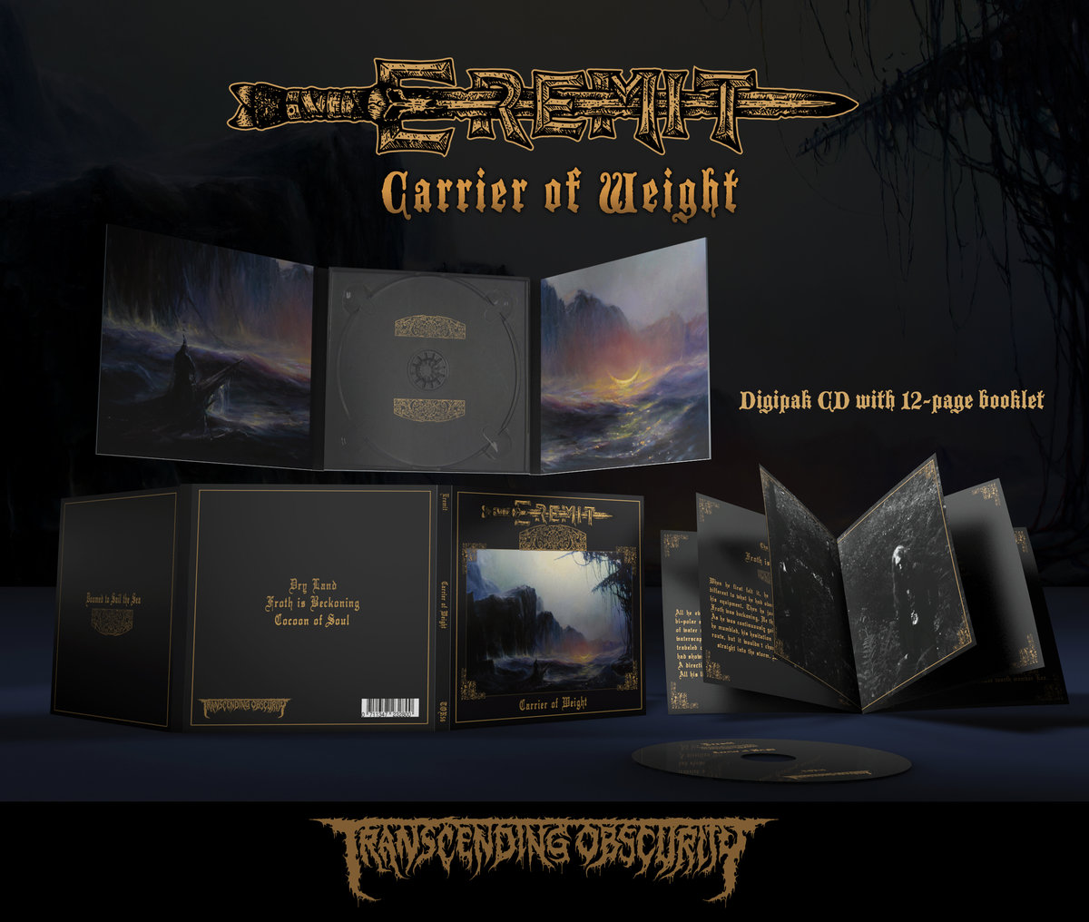 EREMIT (Germany) - 'Carrier of Weight' Digipak CD with 12-page booklet in matt varnish