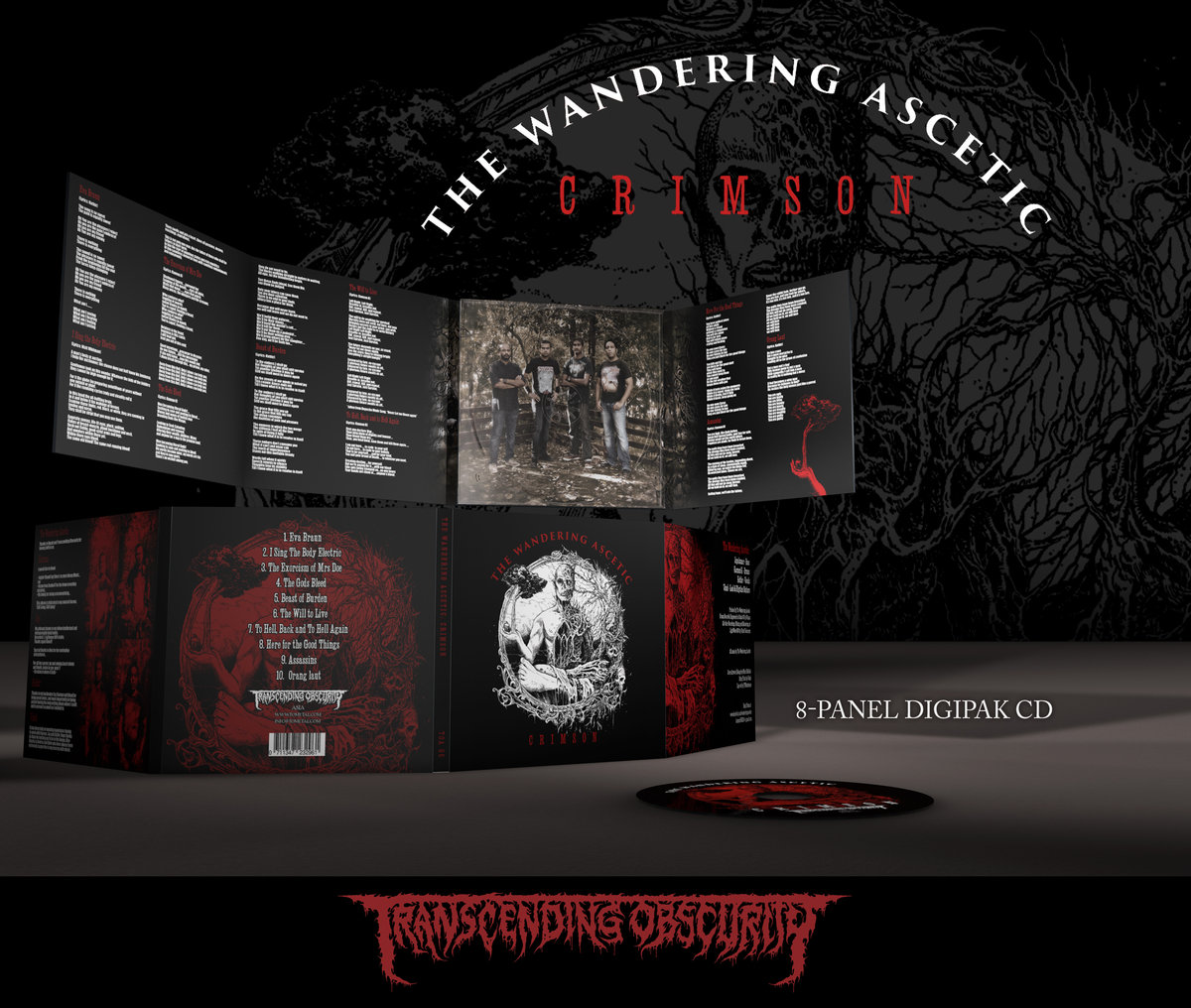 THE WANDERING ASCETIC (Singapore) - Crimson 8-Panel Digipak CD