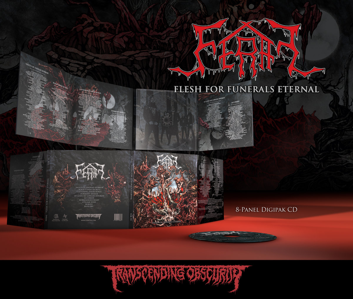 FERAL (Sweden) - 'Flesh For Funerals Eternal' 8-Panel Digipak CD with Matt Varnish