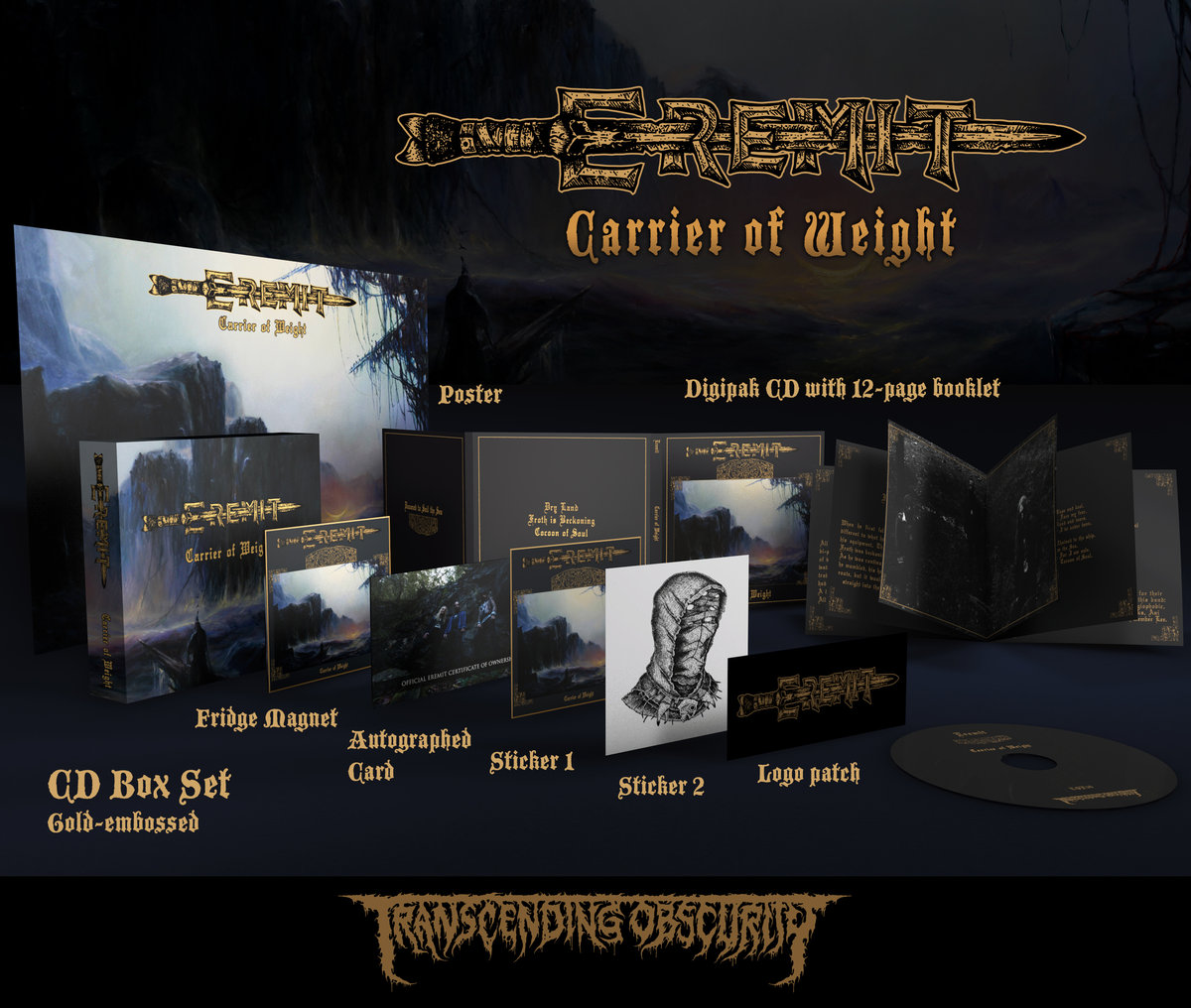 EREMIT (Germany) - 'Carrier of Weight' Gold CD Box Set (Limited to 100)