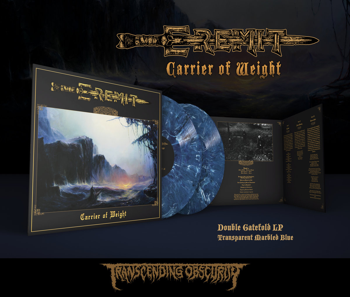 EREMIT (Germany) - 'Carrier of Weight' Double LP in Transparent Marbled Blue Colour (Ltd. to 100)