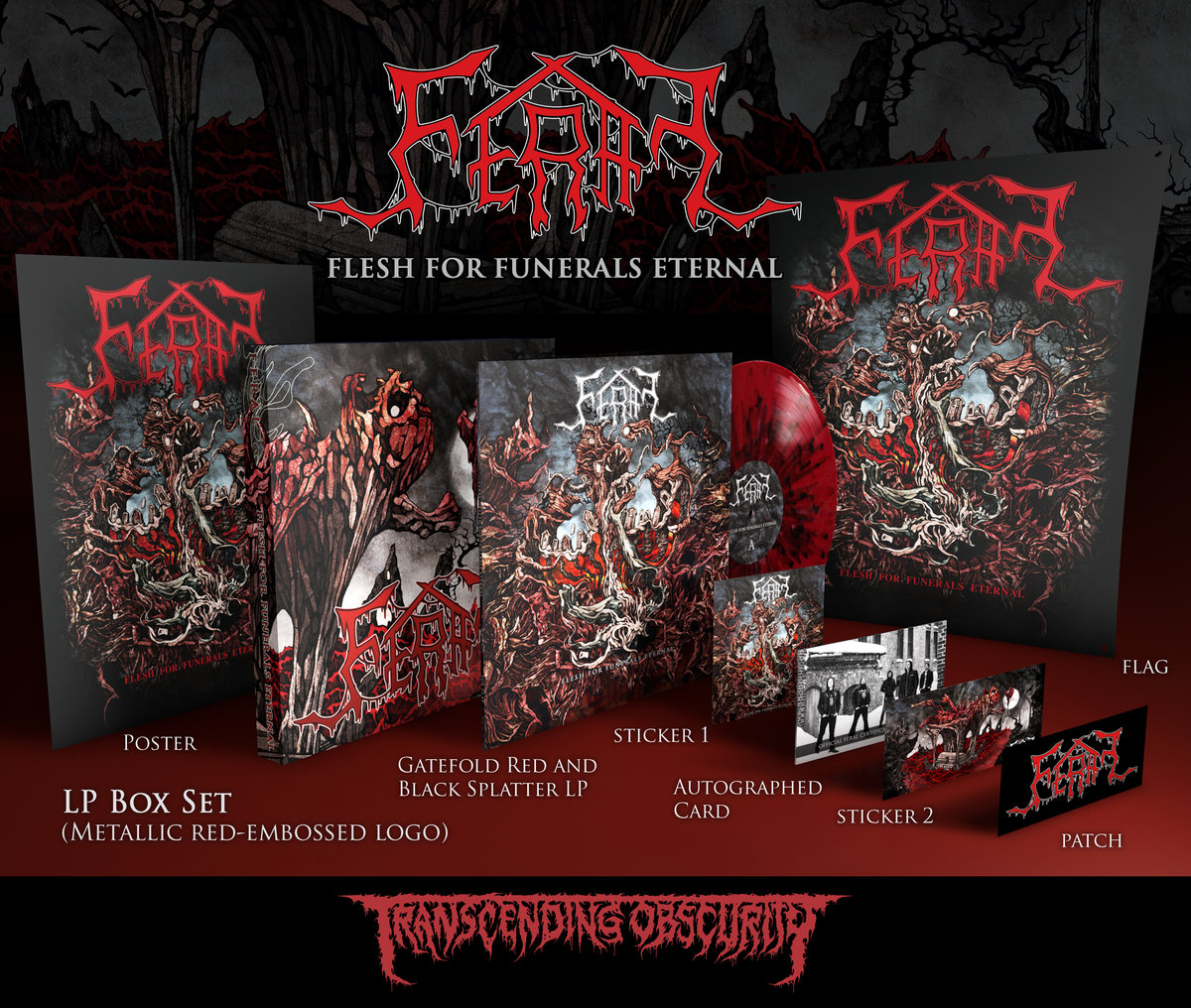 FERAL (Sweden) - Autographed LP Box Sets with Alternate Artwork (Ltd. to 50)