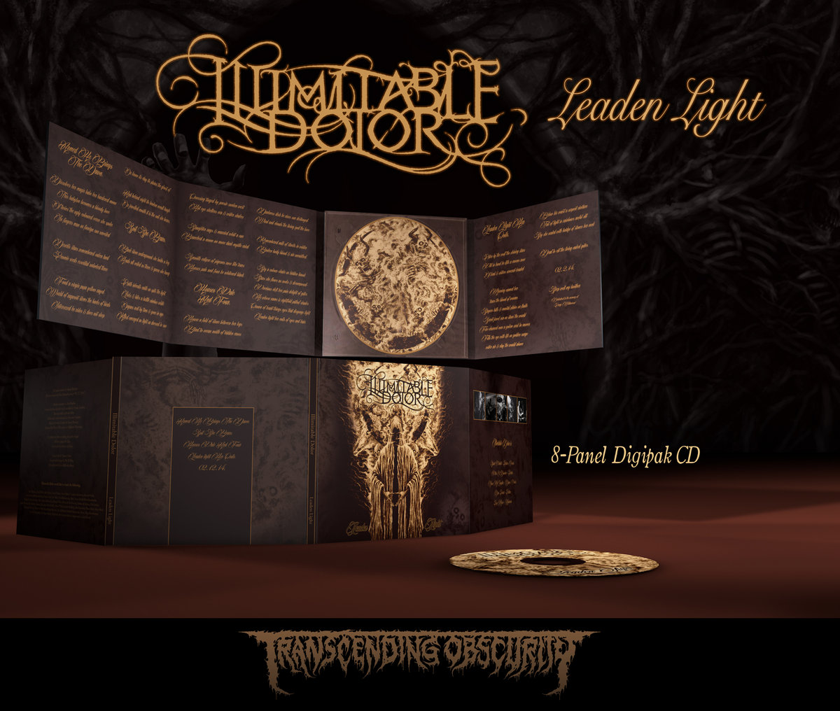ILLIMITABLE DOLOR - Leaden Light Gold 8-Panel Digipak CD