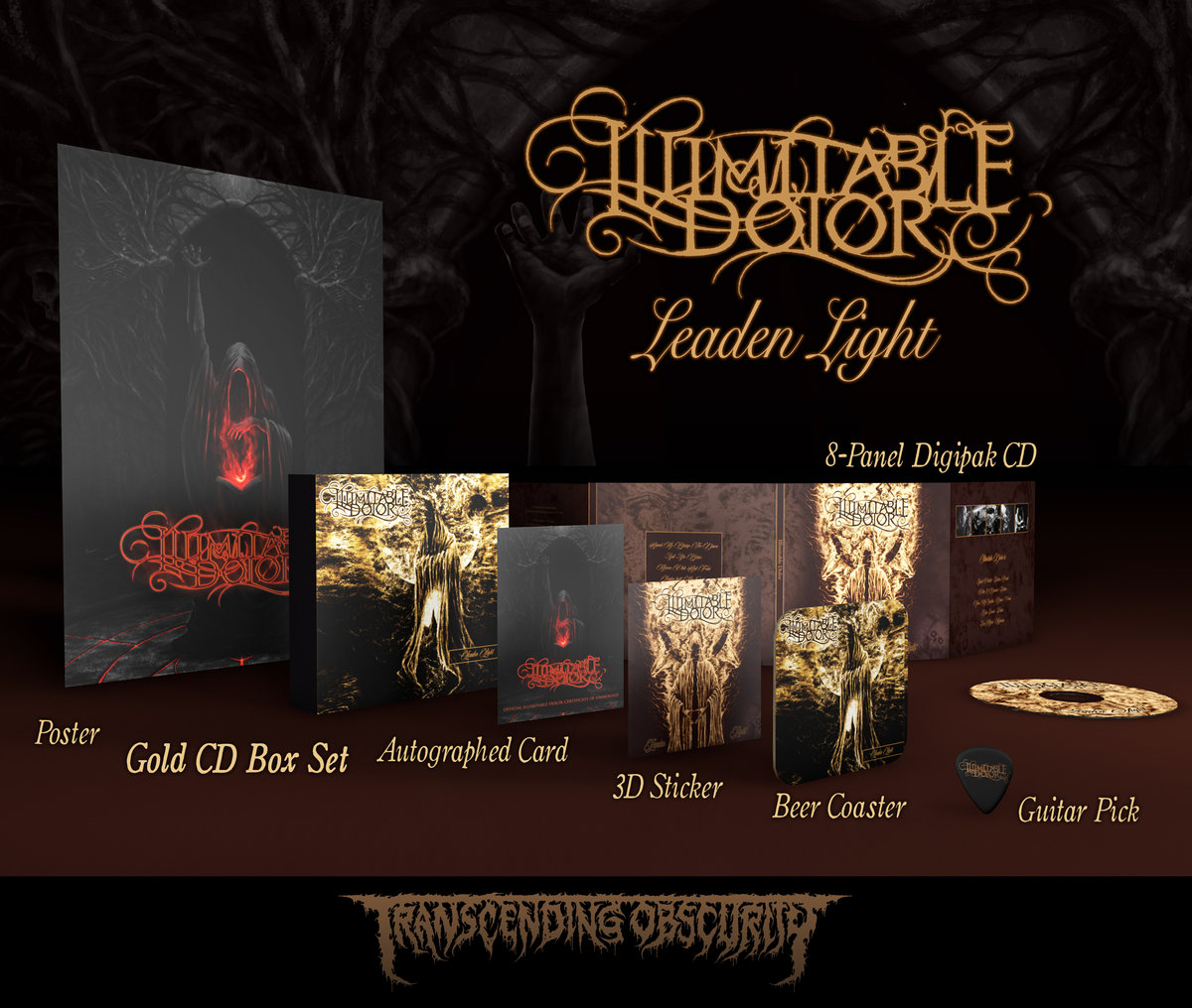ILLIMITABLE DOLOR - Leaden Light Gold CD Box Set