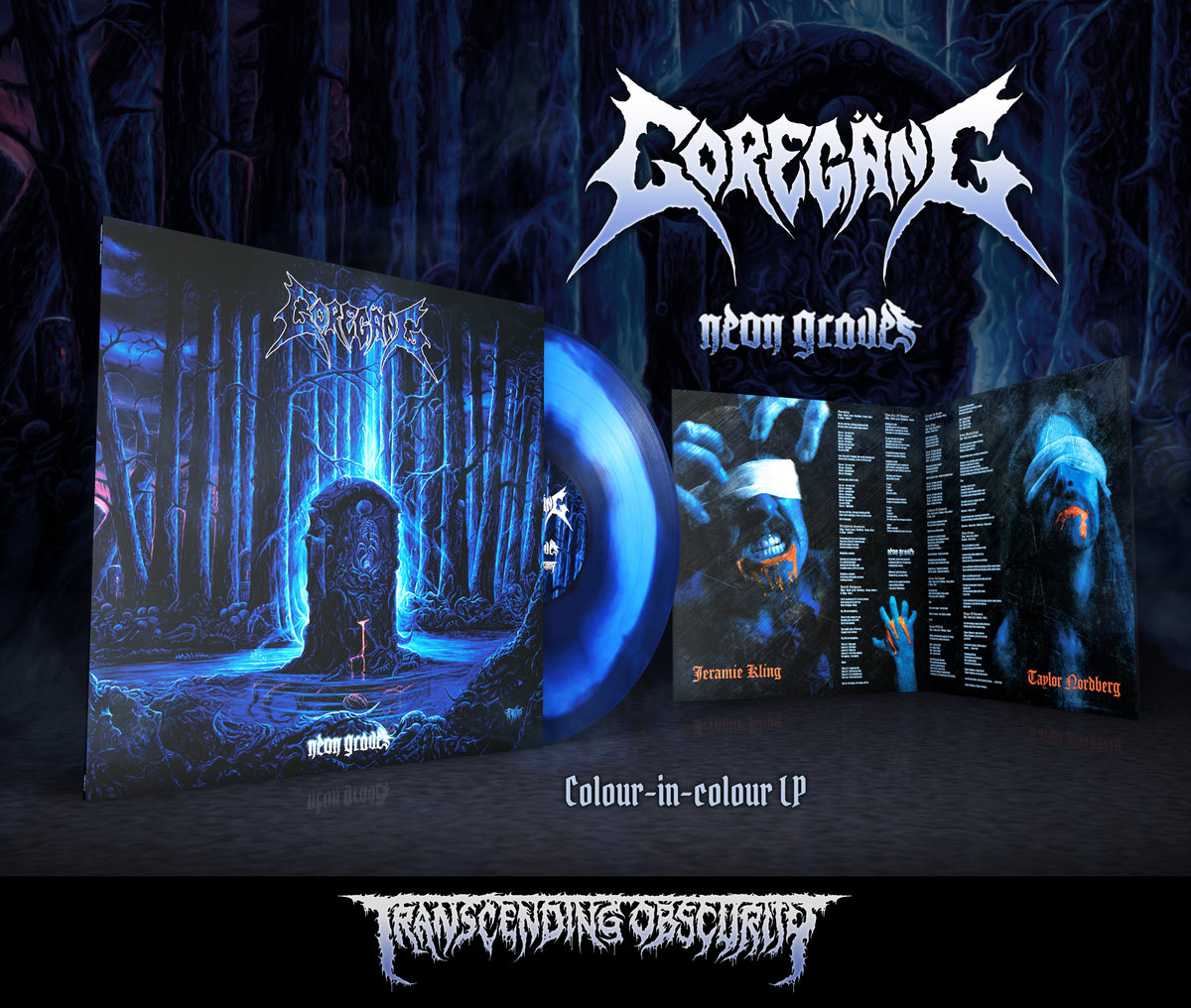 GOREGӒNG - Neon Graves (Death Metal​/​Crust) Grimace Purple with Transparent Blue LP (Limited to 150)