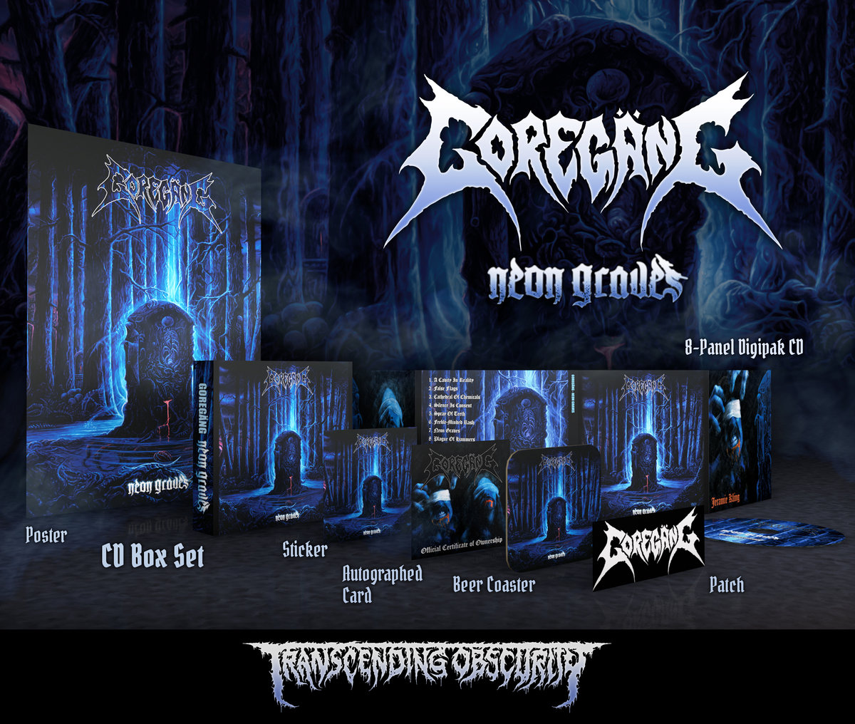 GOREGӒNG -  Neon Graves (Death Metal​/​Crust) Silver-embossed CD Box Set