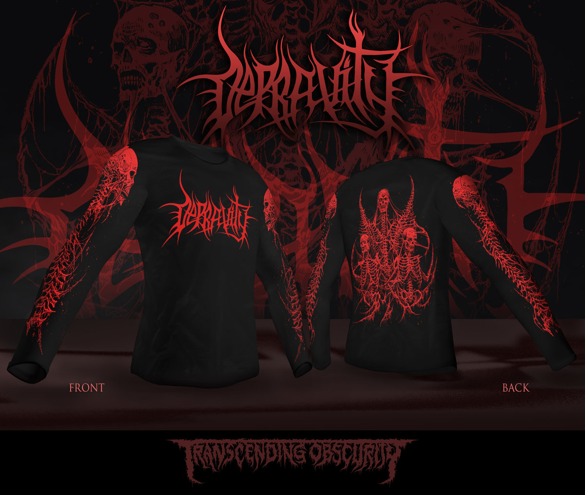 DEPRAVITY Long Sleeve T-shirt Design by Mark Riddick (Limited Edition)