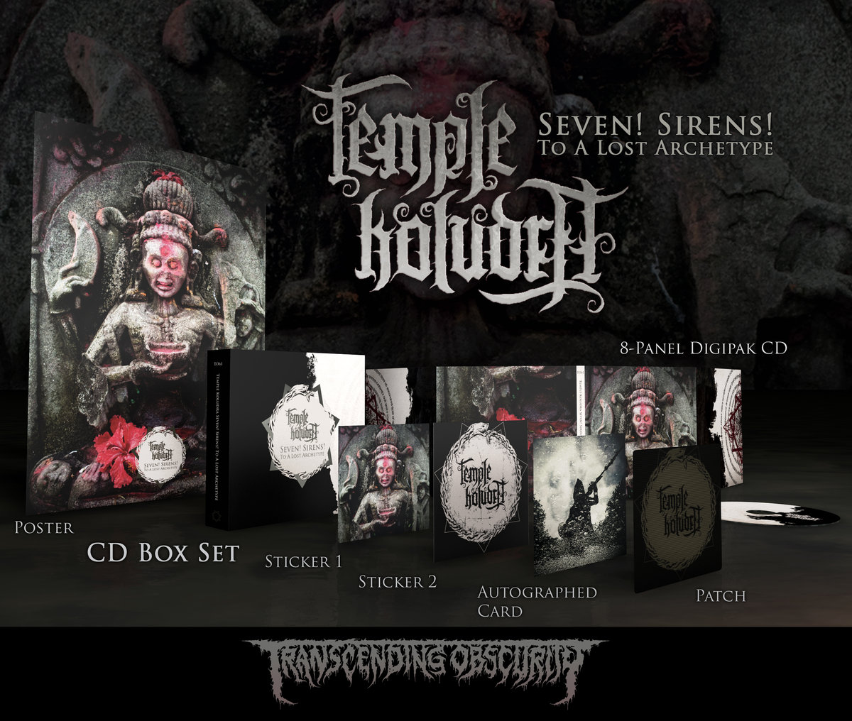 TEMPLE KOLUDRA (Germany) - Seven! Sirens! To A Lost Archetype (Black​/​Death Metal) CD Boxset