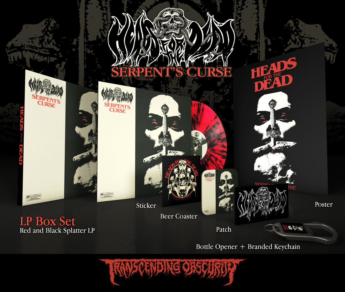 HEADS FOR THE DEAD - Serpent's Curse Red LP Box Set (Limited to 100) REPRESS