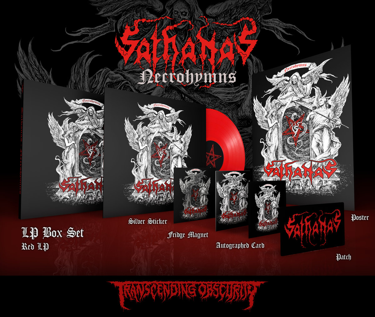 SATHANAS Red LP Box Set (Limited to 25)