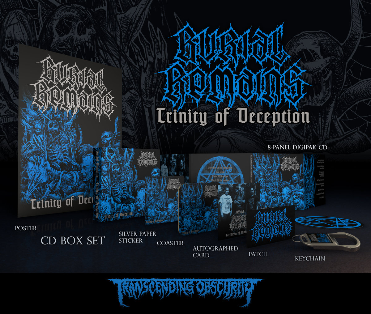 BURIAL REMAINS - Trinity of Deception Silver-embossed Box Set (Limited to 150)