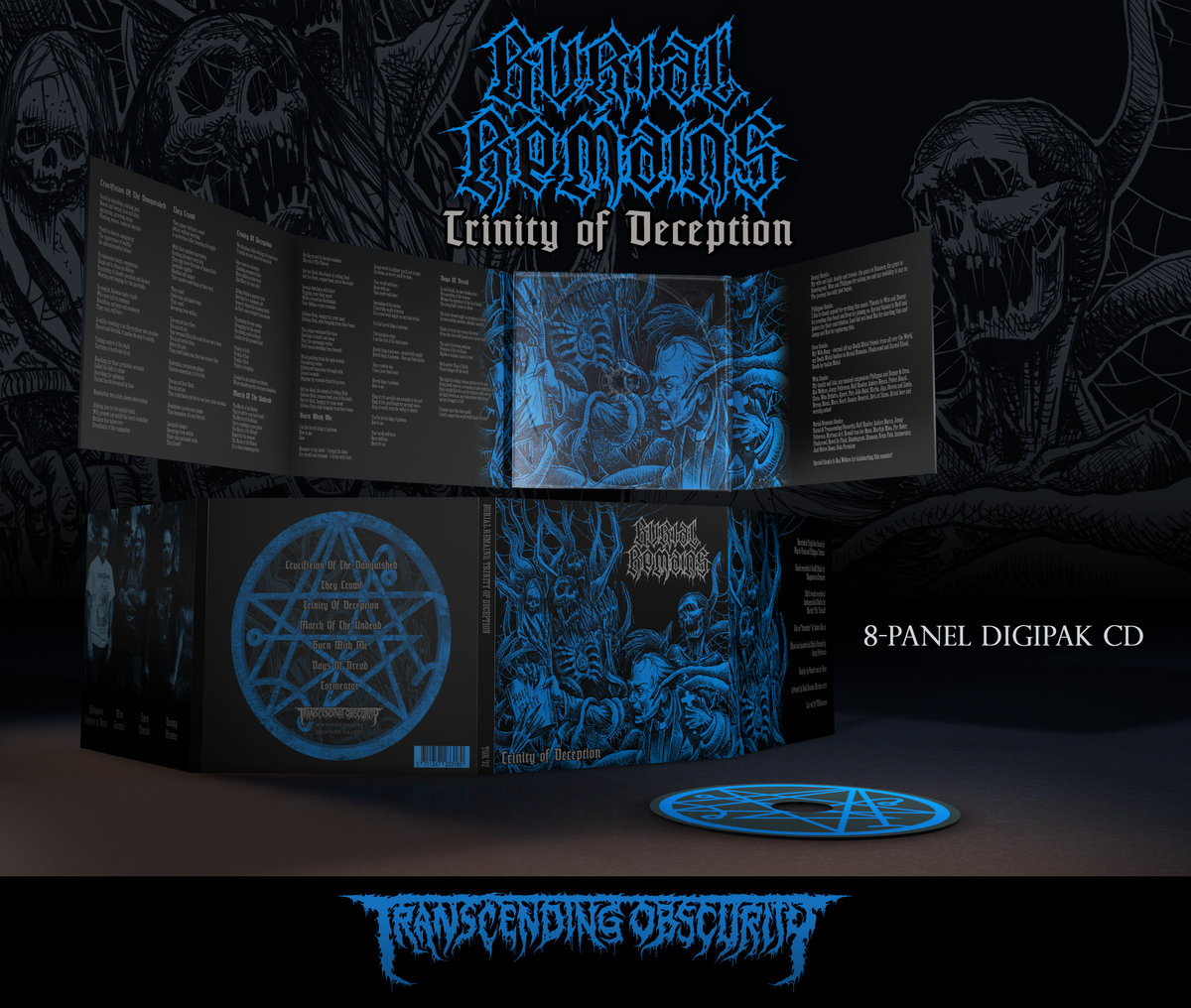 BURIAL REMAINS - Trinity of Deception 8-Panel SILVER Digipak CD (Limited to 350)