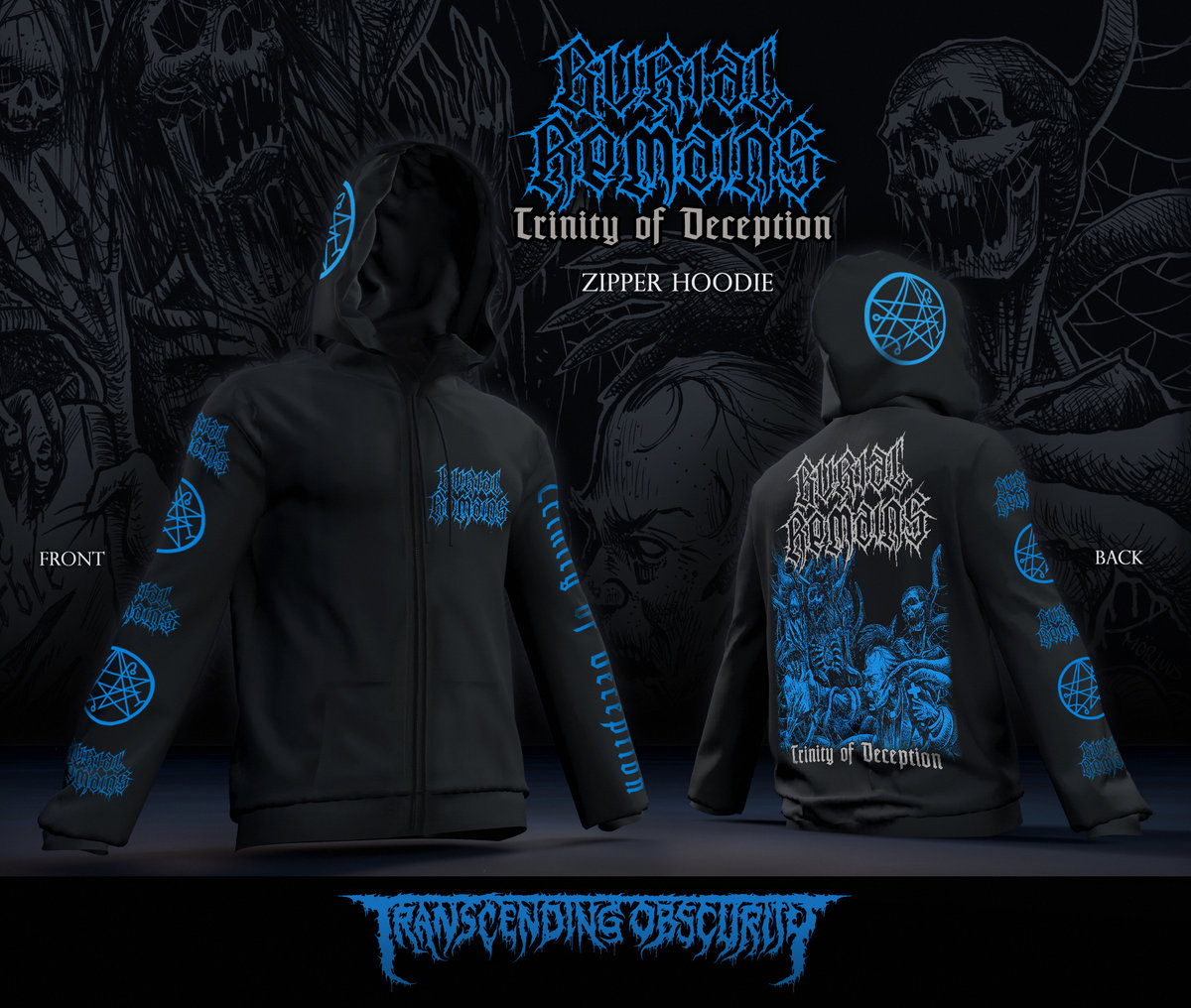 BURIAL REMAINS Zipped Hoodie (Limited to 30 nos.)