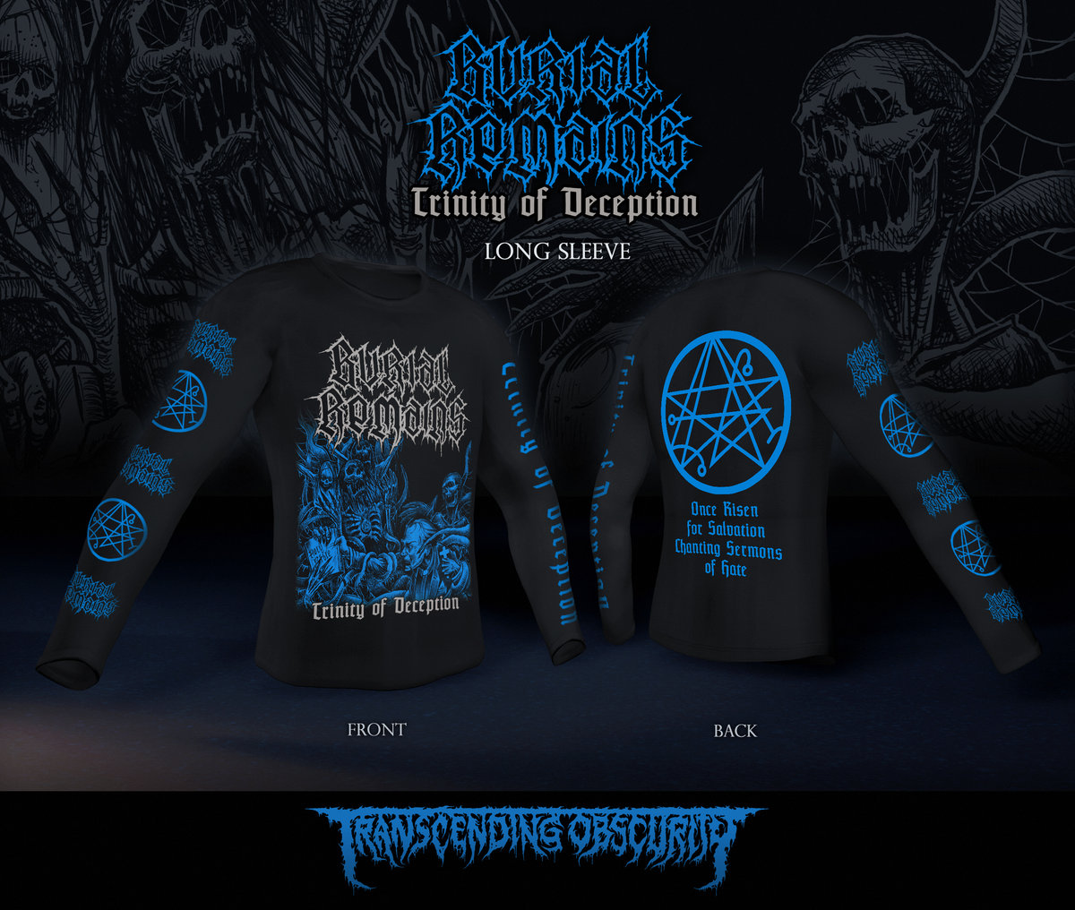 BURIAL REMAINS Long Sleeve T-shirt (Limited to 30)