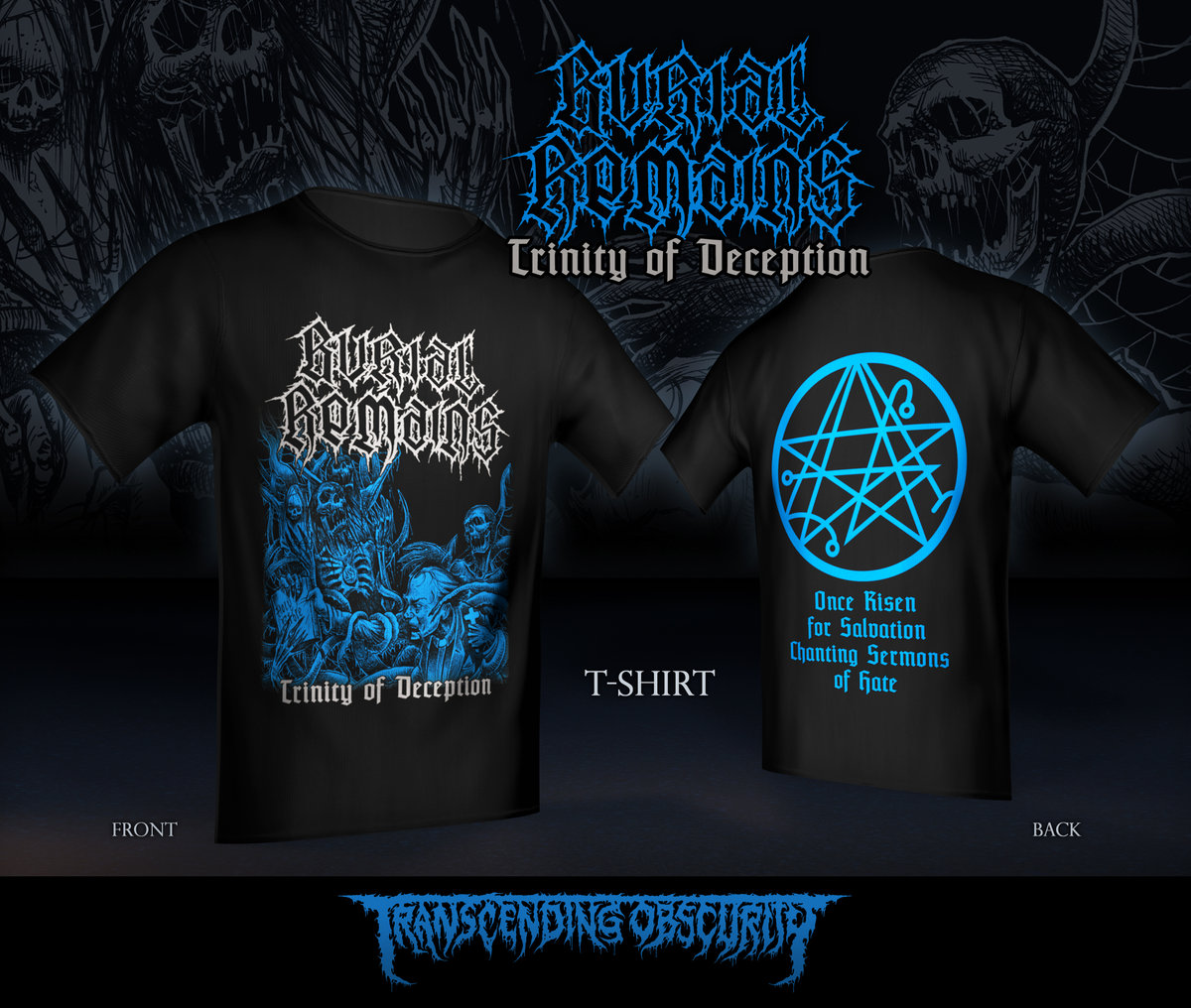 BURIAL REMAINS Double-sided print T-shirt (Limited to 30)