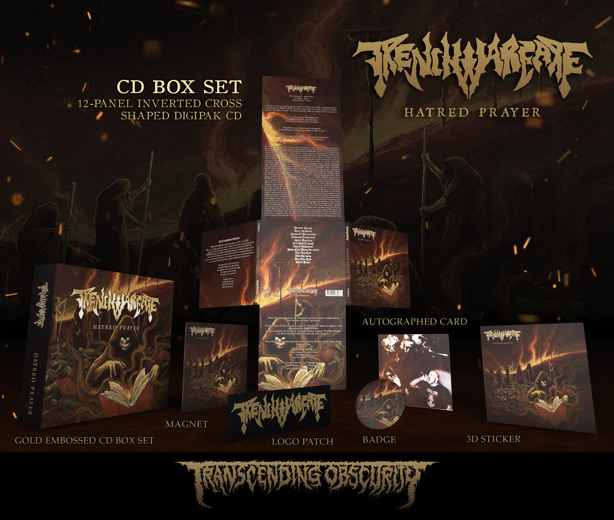 TRENCH WARFARE (US) - 'Hatred Warfare' Autographed Gold-embossed CD Box Set