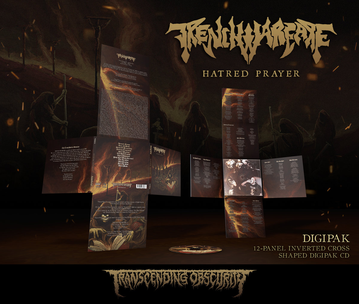 TRENCH WARFARE (US) - 'Hatred Warfare' Limited Edition 12-panel Inverted Cross-shaped Digipak CD