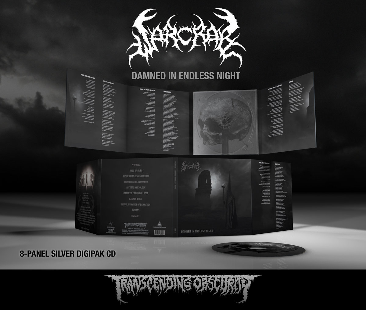 WARCRAB (UK) - Damned In Endless Night 8-Panel Silver Paper Digipack CD