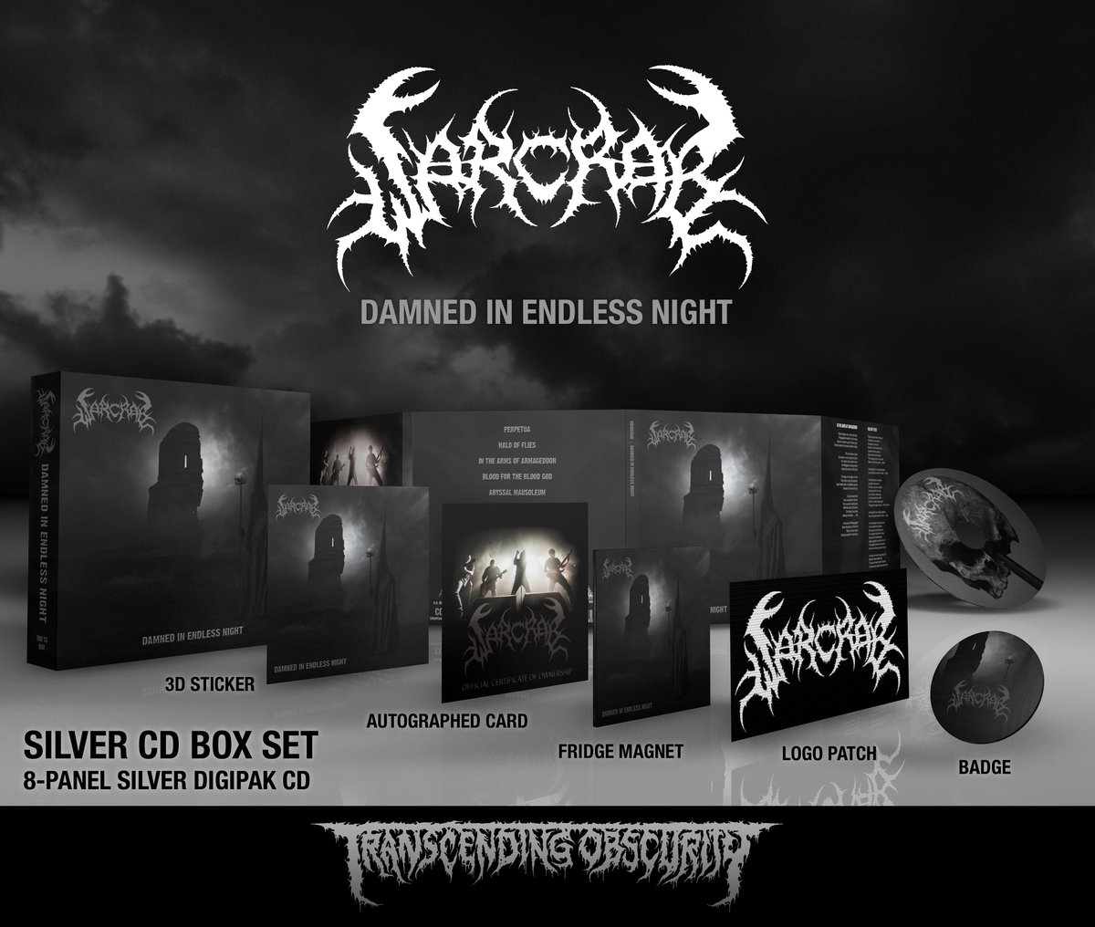 WARCRAB (UK) - Damned in Endless Night Silver-embossed CD Box Set (Limited to 150)