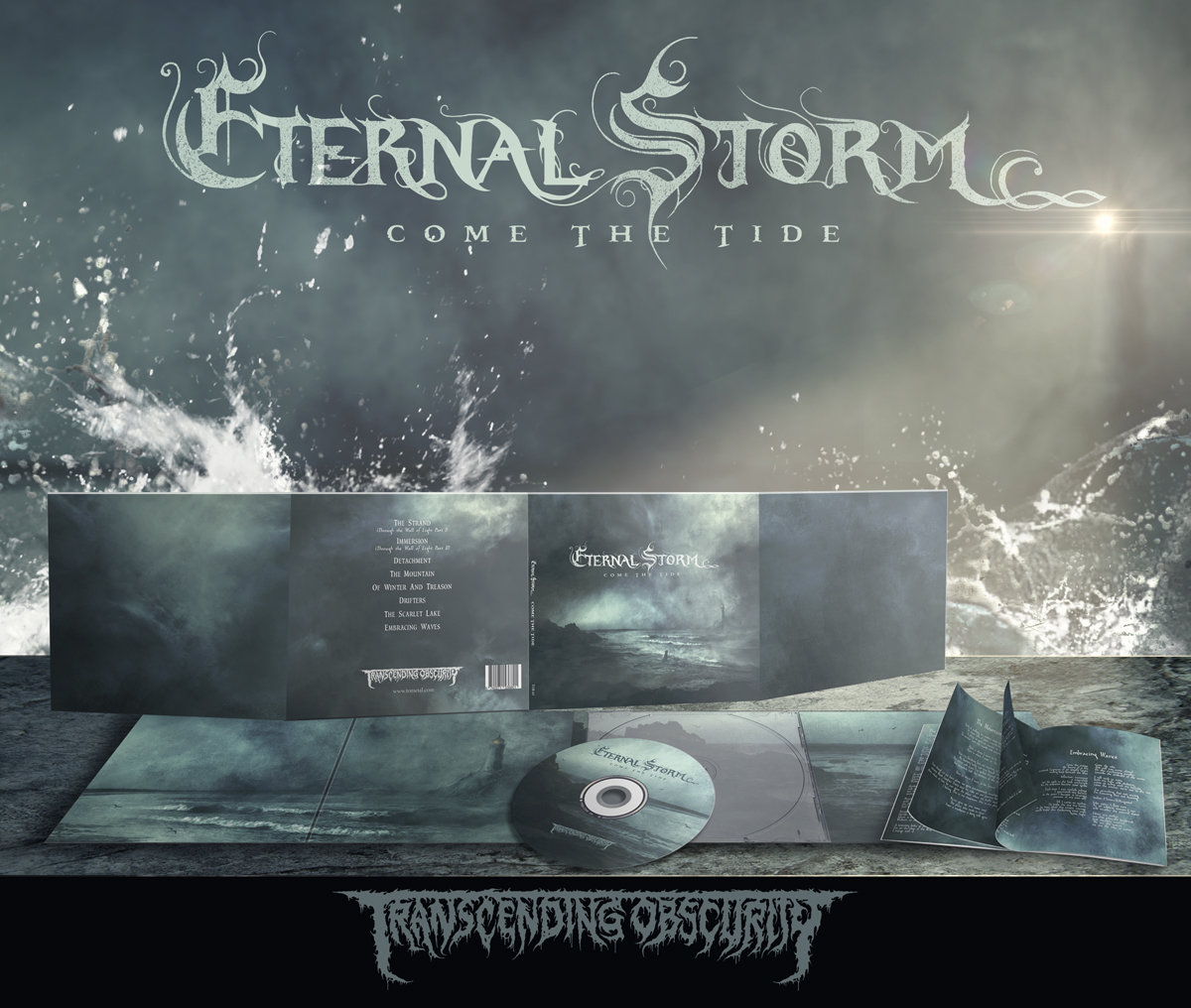ETERNAL STORM (Spain) - 'Come The Tide' 8-Panel Digipak CD with 12-Page Booklet in Matt Paper (Free Pre-order Badge!)