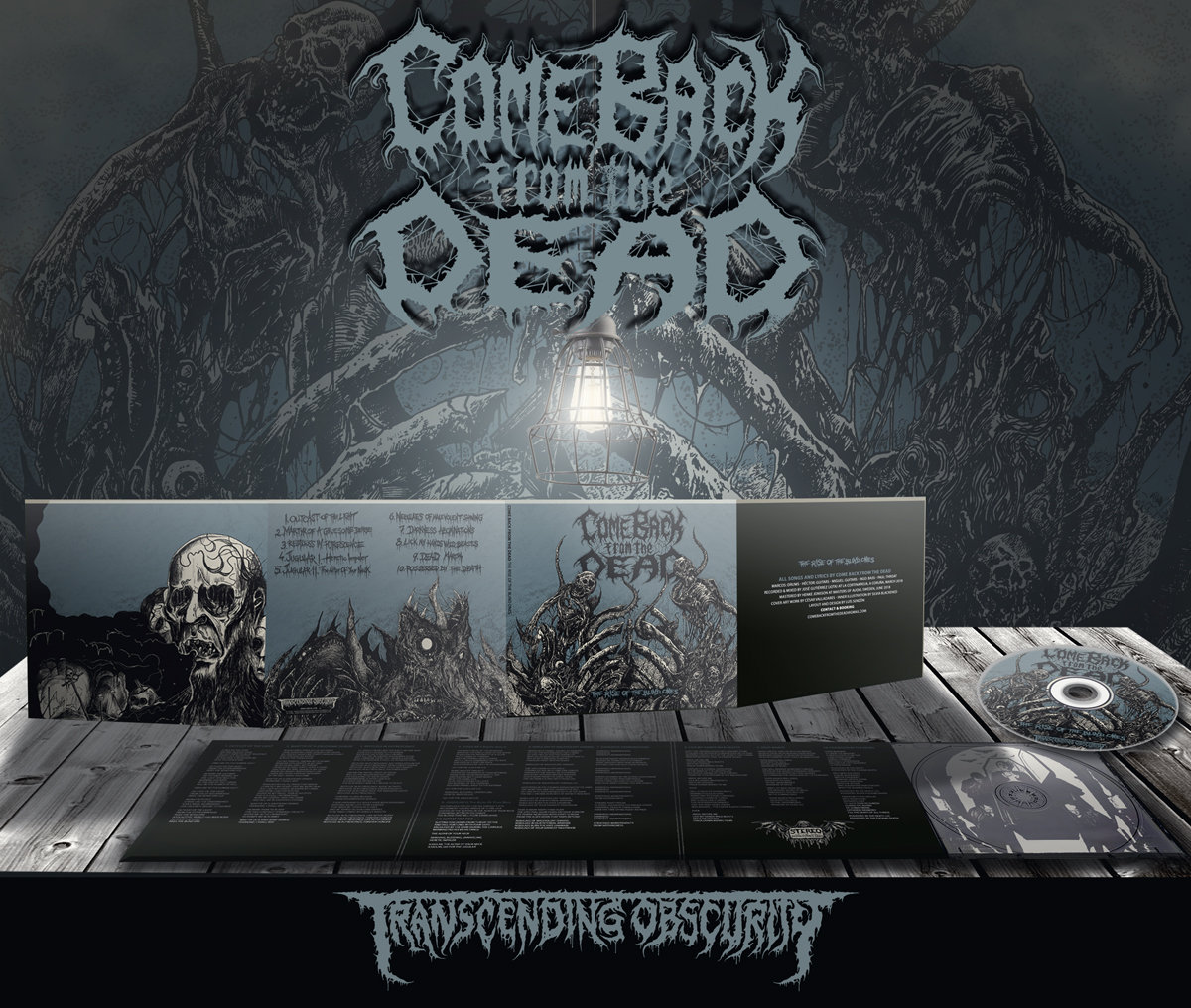 COME BACK FROM THE DEAD - 'The Rise of the Blind Ones' 8-Panel Digipak CD (FREE BADGE WITH ALL PRE-ORDERS!)