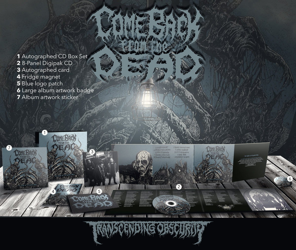 COME BACK FROM THE DEAD - 'The Rise of the Blind Ones' Autographed CD Box Set (SPECIAL PRE-ORDER PRICE!)