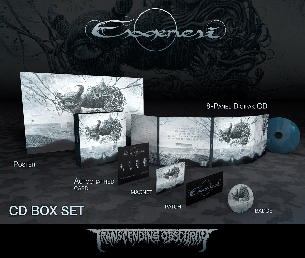 ESOGENESI (Italy) – Self​-​titled (Death​/​Doom Metal) Autographed Limited Edition CD Box Set